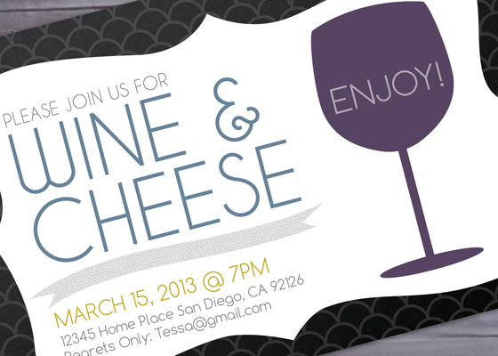 Cheese Party Invitation Printable