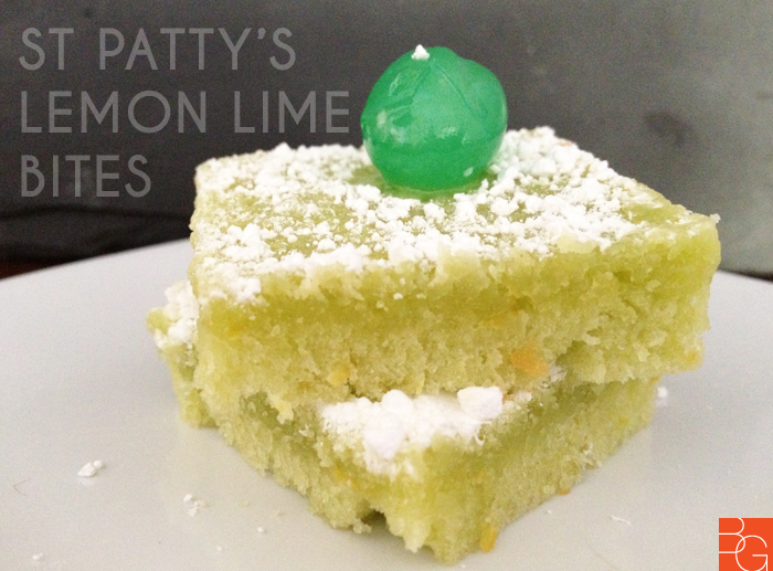 St Pattys Day Lemon Lime Bites