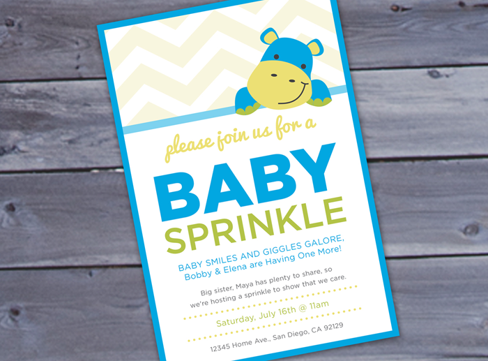 hippo baby sprinkle printable invitation brigeeski
