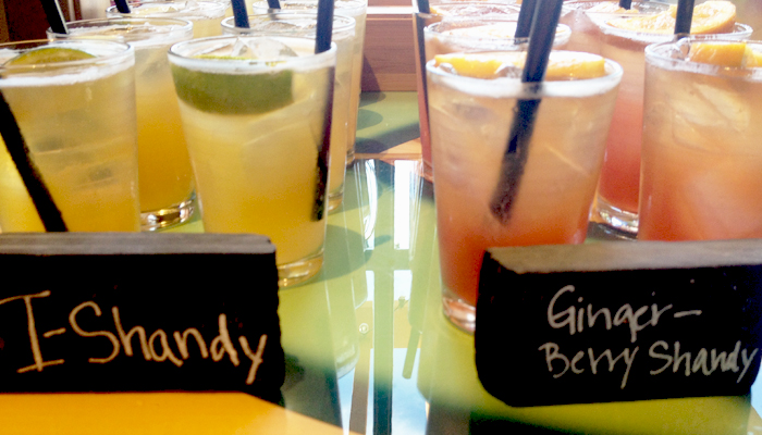 shandy cocktails at Islands Burgers