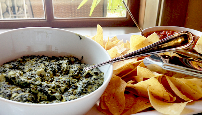 spinach dip from Islands Burgers