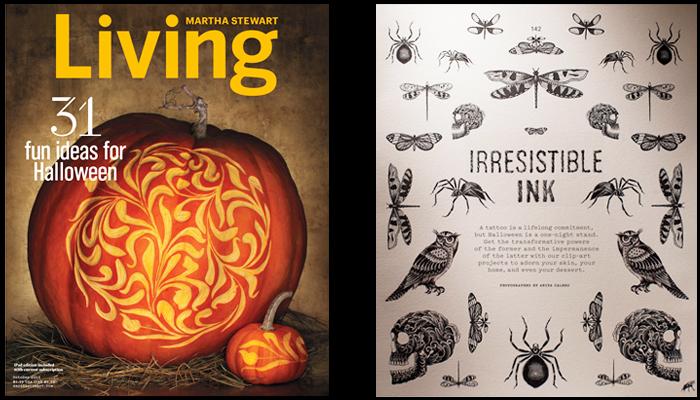 Martha Stewart Living Ink Designs by Stephanie Tamez