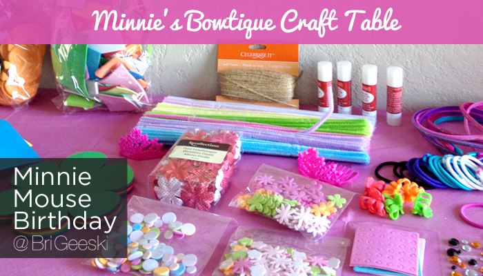 Minnie S Bowtique Craft Table Disney Minniesbowtique 2nd Birthday Party