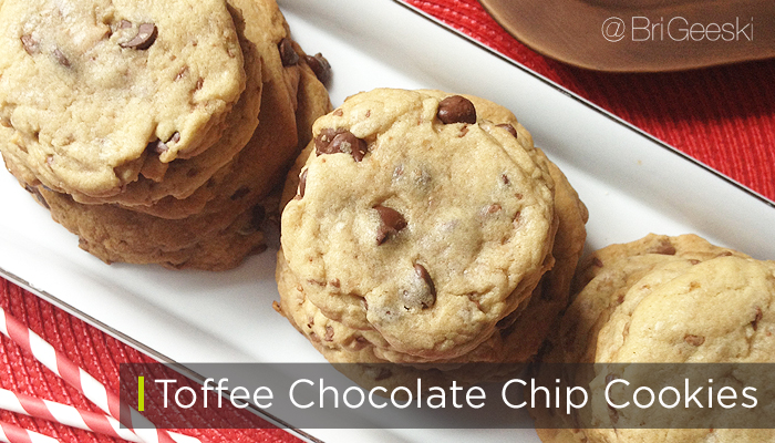 The best toffee chocolate chip cookies