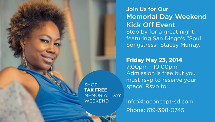 Memorial Day Weekend Kick Off Event at BoConcept San Diego