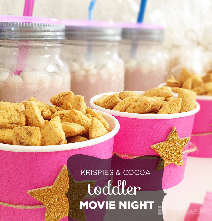 Krispies & Cocoa Toddler Movie Night Snacks