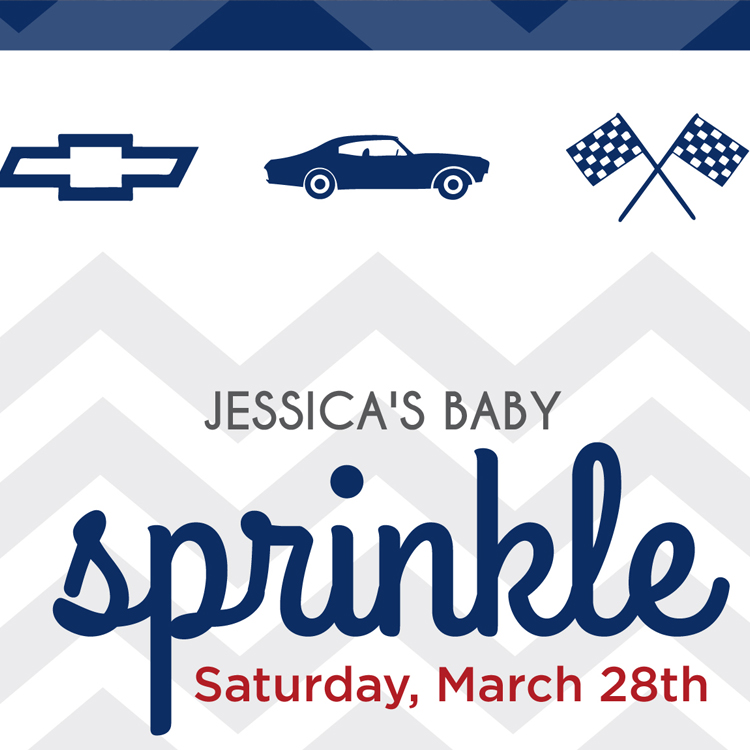 chevy icons / detail on sprinkle invitation