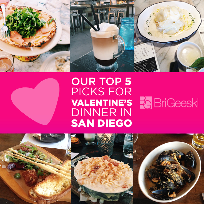Our Top 5 Picks for Valentine's Day Dinner in San Diego