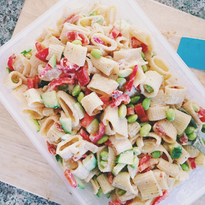 Fall Feta Pasta Salad Recipe