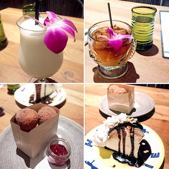 Drinks and Desserts at Duke's in La Jolla