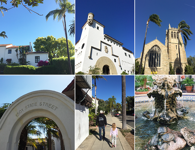 Streets and views in Santa Barbara