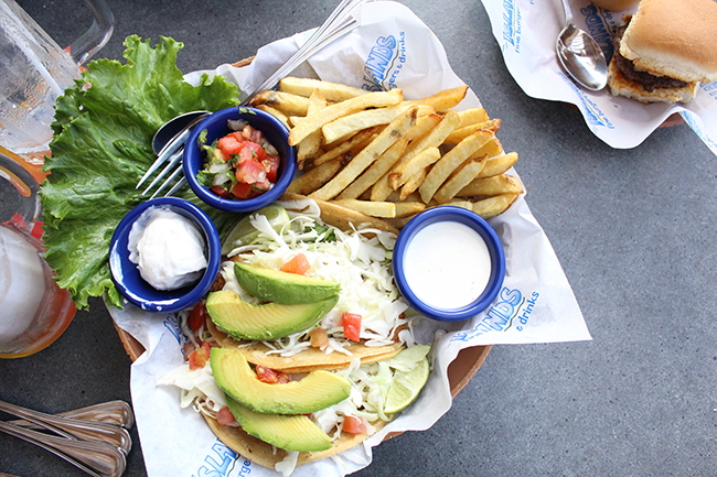 fish tacos from Islands