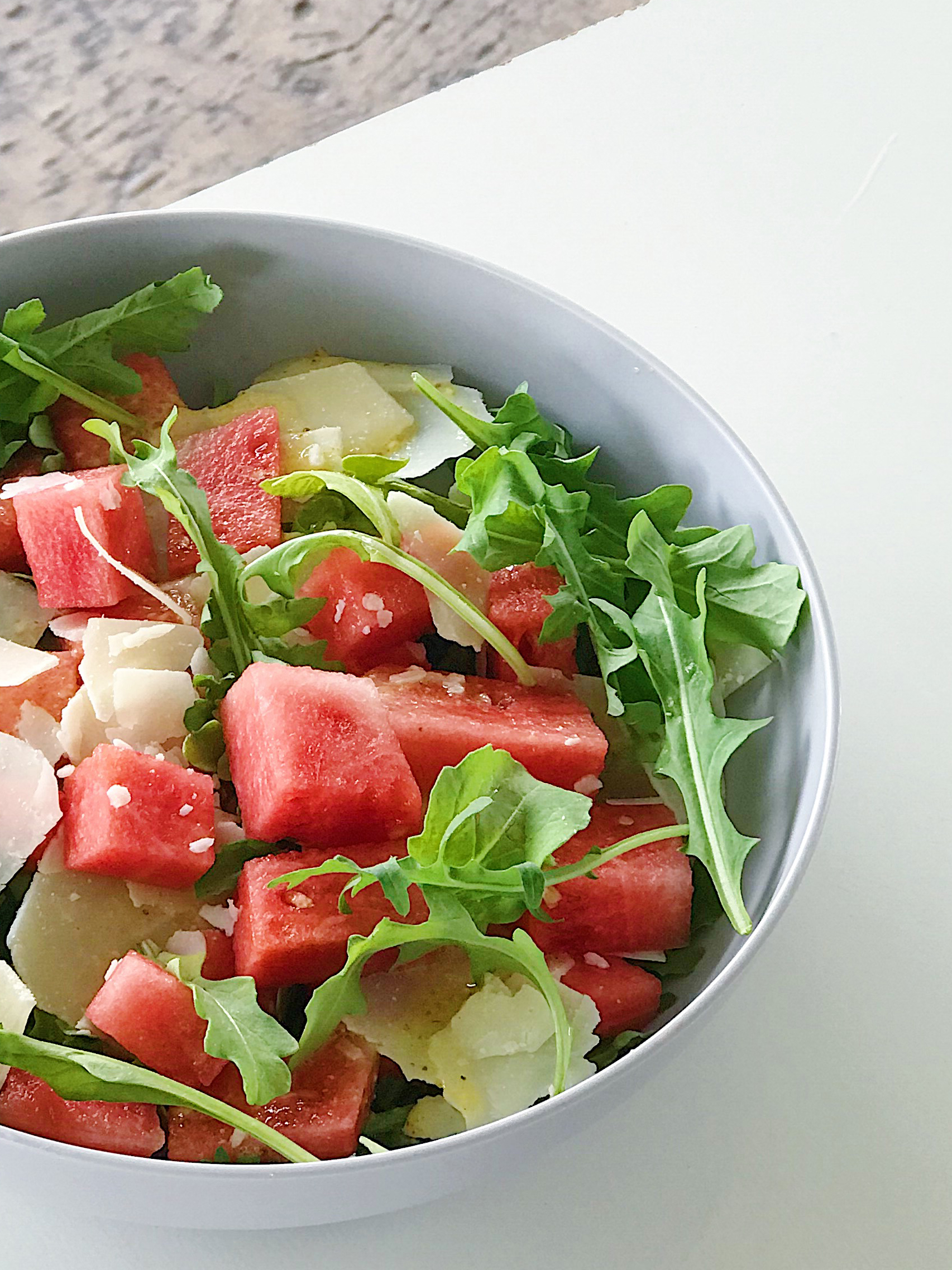 Watermelon Arugula and Parmesan Salad Recipe