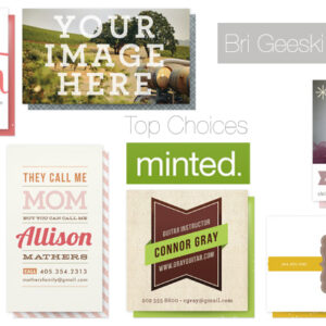 brigeeski top choices for Minted business cards