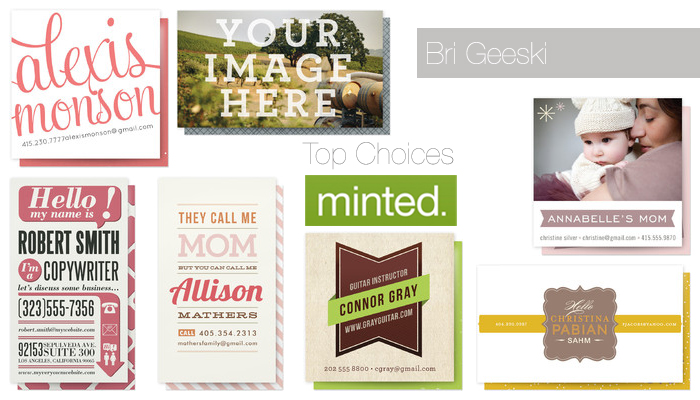 Top choices for minted personal business cards brigeeski brigeeski top choices for minted business cards colourmoves