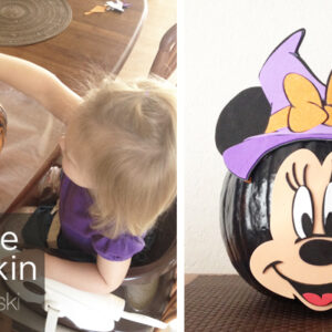 minnie mouse pumpkin decorating