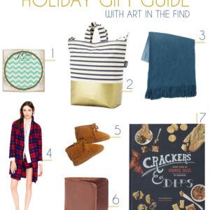 holiday gift guide with art in the find