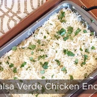 Salsa Verde Chicken Enchiladas