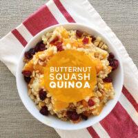 Butternut Squash Quinoa with Shallot Vinaigrette