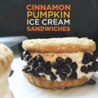 Cinnamon Pumpkin Ice Cream Sandwiches