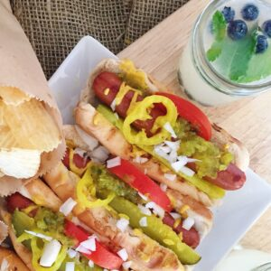 An easy summer kick off party with Chicago Dogs