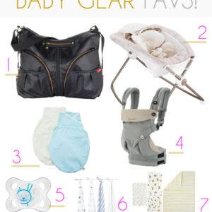 My favorite baby gear items.