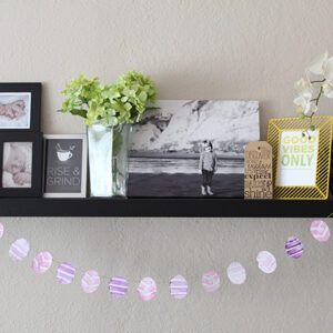 potato stamp Easter Egg garland