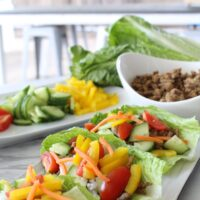Turkey & Veggie Lettuce Cups