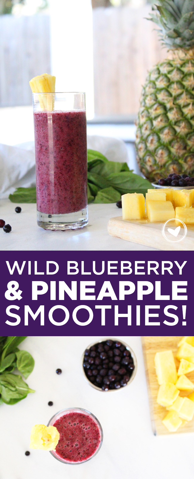 wild blueberry and pineapple smoothies