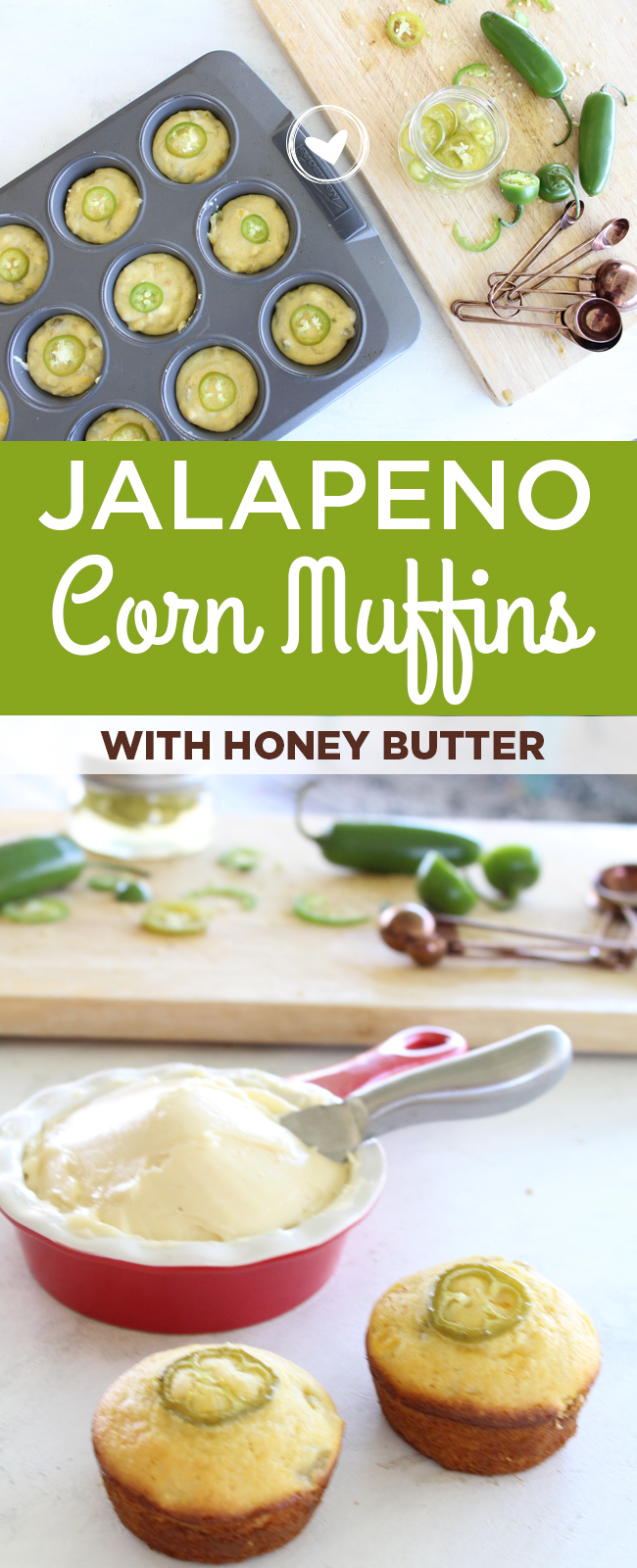 Jalapeno Corn Muffins with Whipped Honey Butter