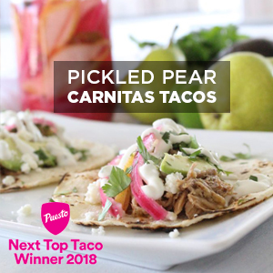 Pickled Pear Carnitas Tacos