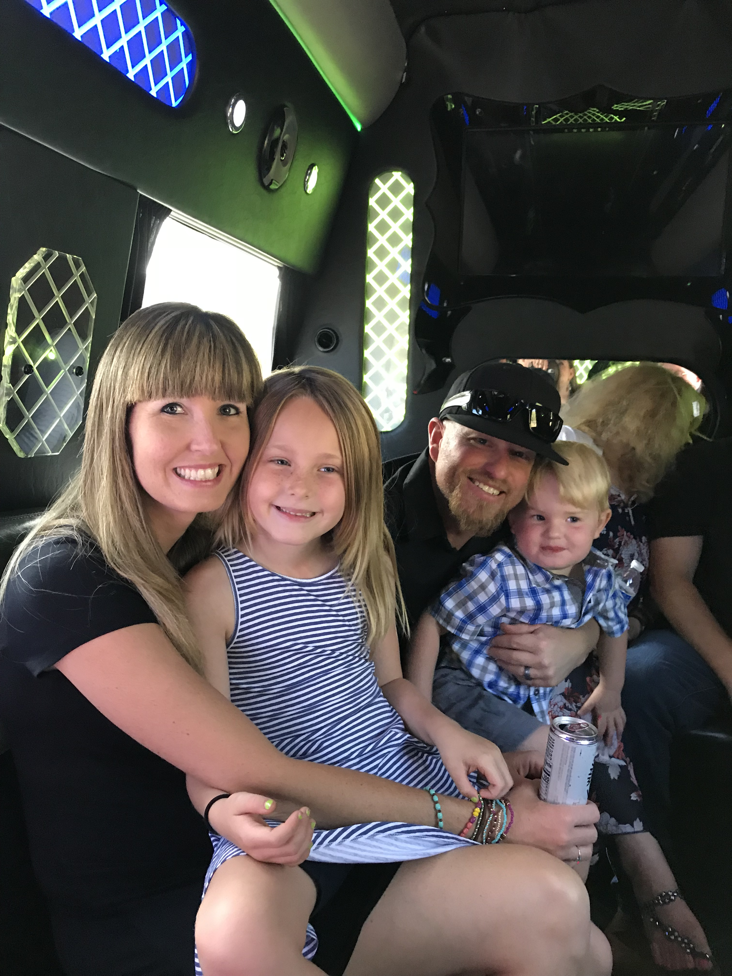 Taking a ride on the All In One Party Bus with the Family