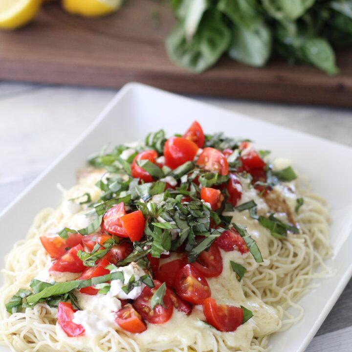 Burrata Caprese Pasta