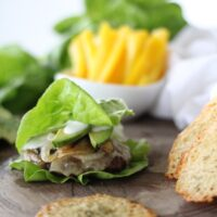 Blue Cheese & Onion Burgers
