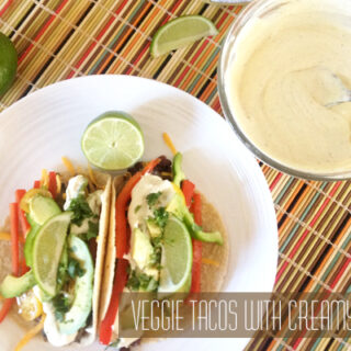 Veggie Tacos With Creamy Garlic Sauce