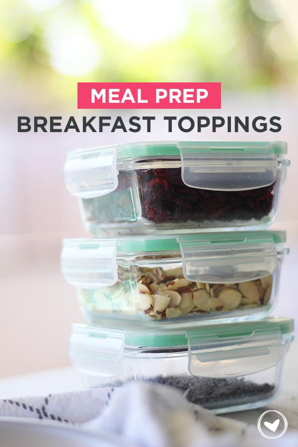 meal prep breakfast toppings
