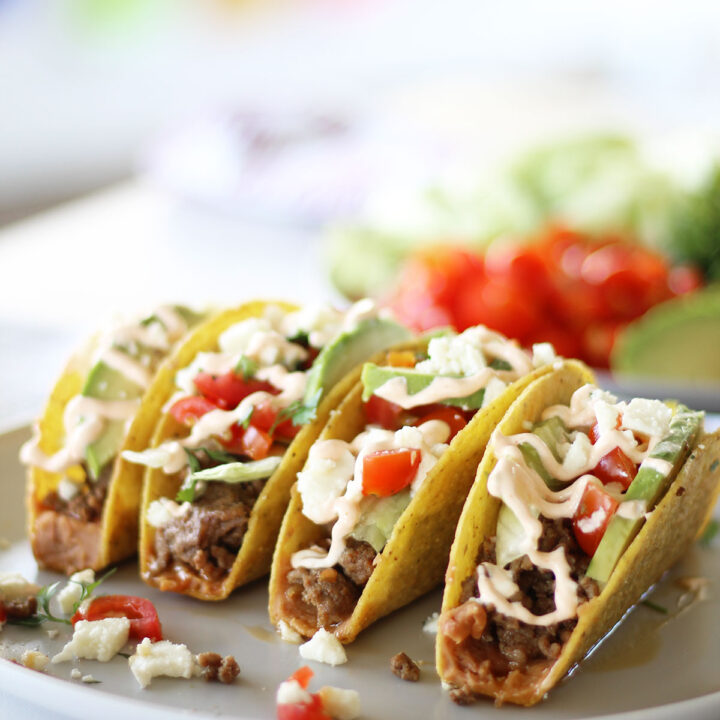 Hard Shell Ground Beef Tacos