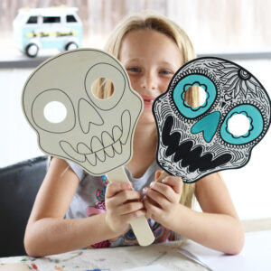 Make these! DIY Dia De Los Muertos Skull Masks