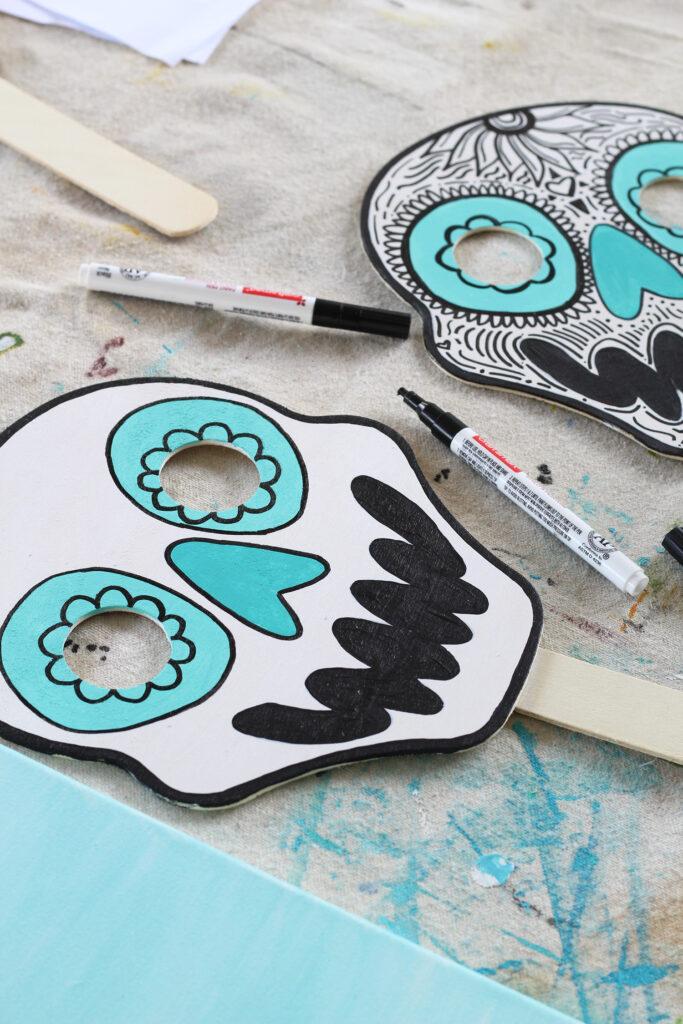 How to paint a dia de los muertos skull