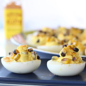 Deviled Eggs With Elote Seasoning