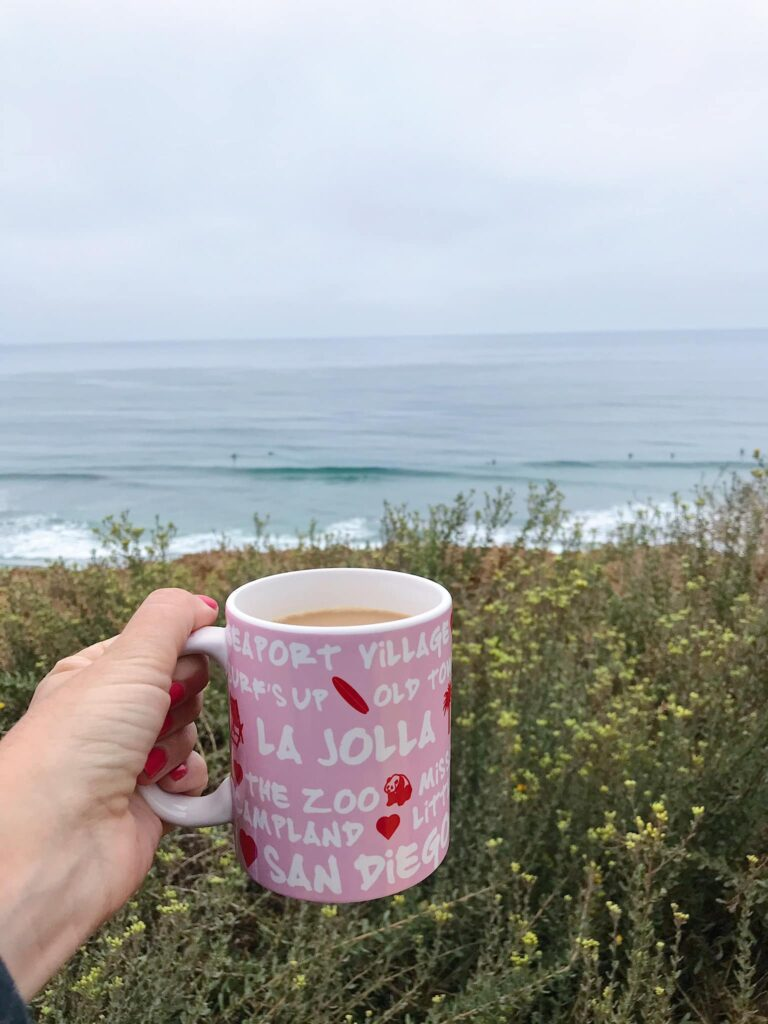 Coffee at the ocean