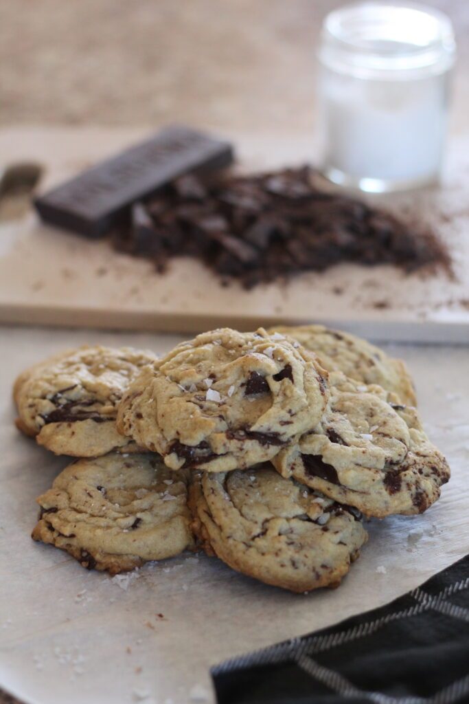 Brown Butter Salted Chocolate Chip Cookies