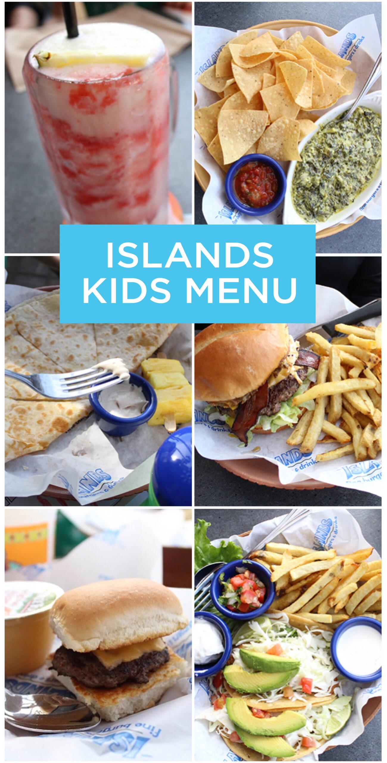 Islands Kids Menu