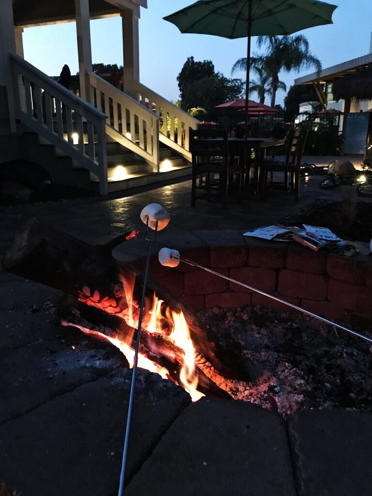 Roasting Smores in San Diego