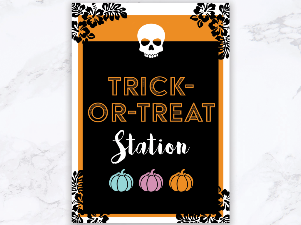 Trick or Treat Station Printable
