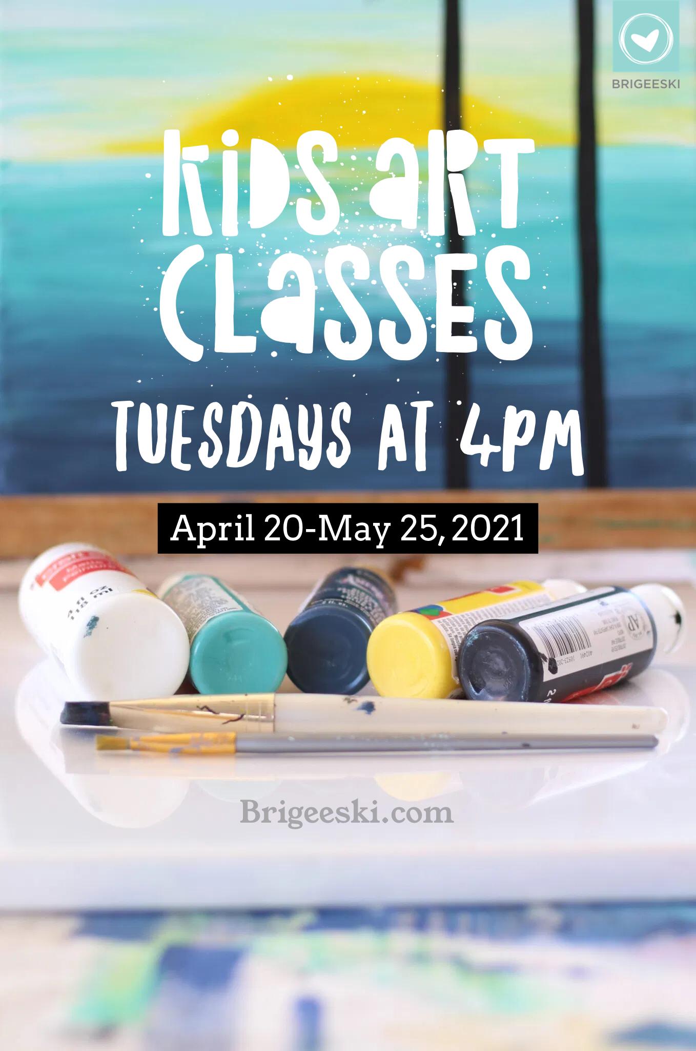 Kids Art Classes on Zoom