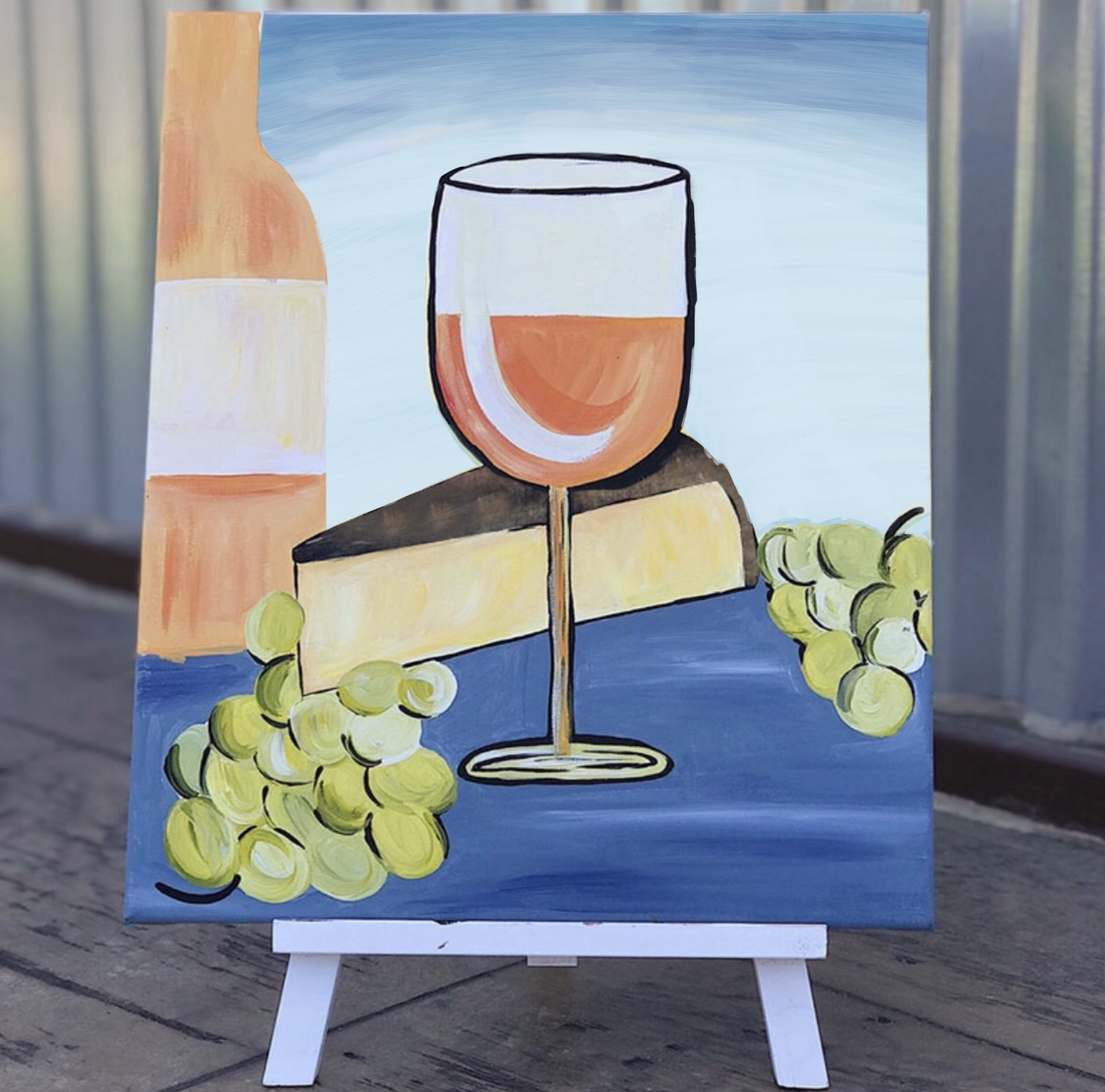 Wine & Cheese Paint Party at Venissimo in Del Mar